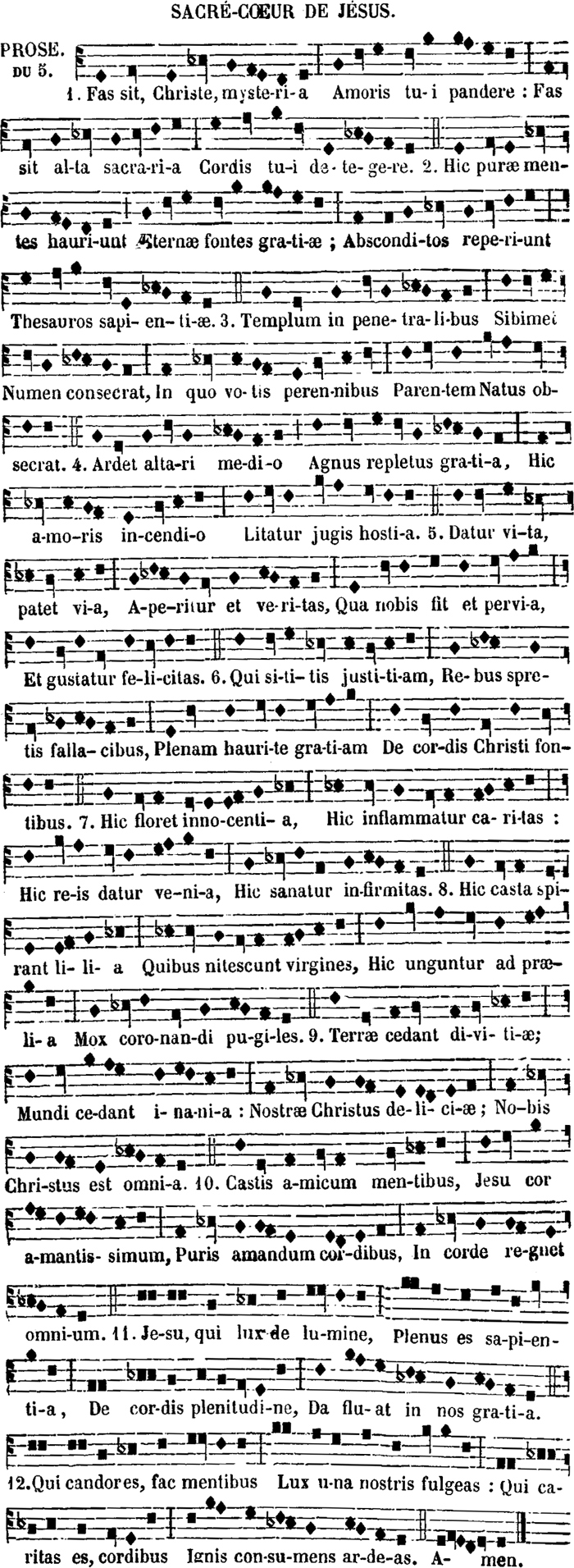 Prose du Sacre Coeur