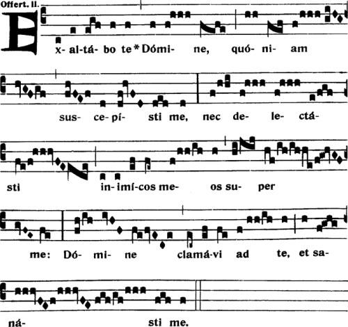 Offertoire du XIème dimanche apres la Pentecote