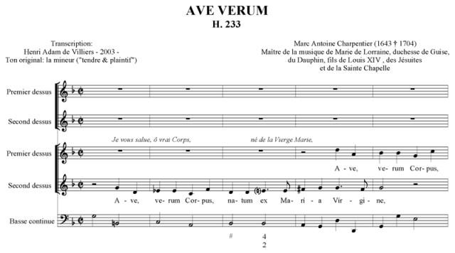 Marc-Antoine Charpentier - Ave verum (H. 233)