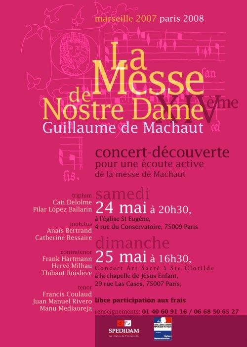 Concert Guillaume de Machault