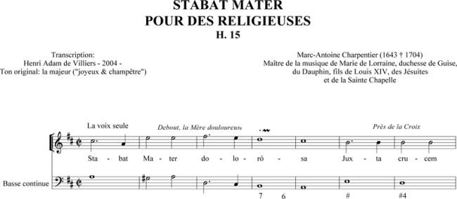 Charpentier - Stabat Mater pour des religieuses (H. 15)