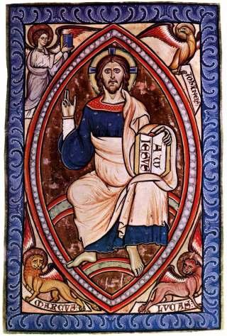 Christ en gloire, miniature du XIIIème siècle