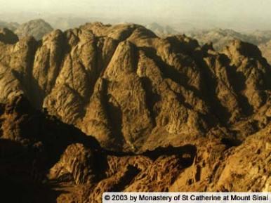 Mont Publion, près du Sinaï, refuge des saints Galaction & Epistème