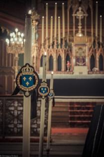 Requiem solennel pour Louis XVI du 21 janvier 2013 : cierges du catafalque