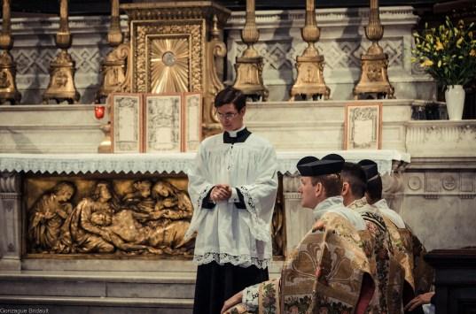 1ère messe de M. l'Abbé Lacroix, fssp, à Notre-Dame-des-Victoires, le 3 août 2013 : pendant l'homélie