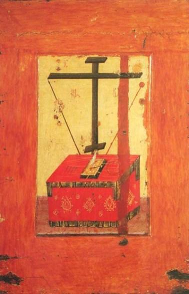 Vierge de Vladimir (verso) : autel byzantin (école de Moscou)