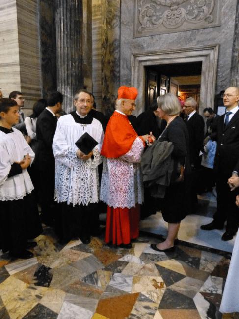 Jeanne Smits & le cardinal Hoyos