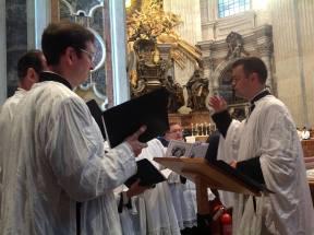 La Schola Sainte Cécile chante à Saint-Pierre de Rome