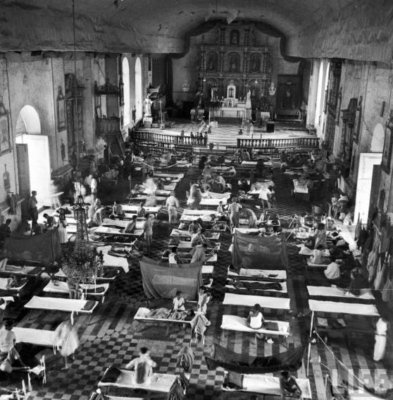 La cathédrale de Palo transformée en hôpital militaire