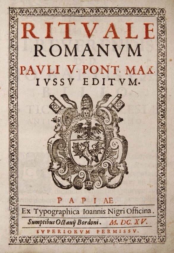 17 juin 1614 : IVème centenaire du Rituale Romanum de Paul V