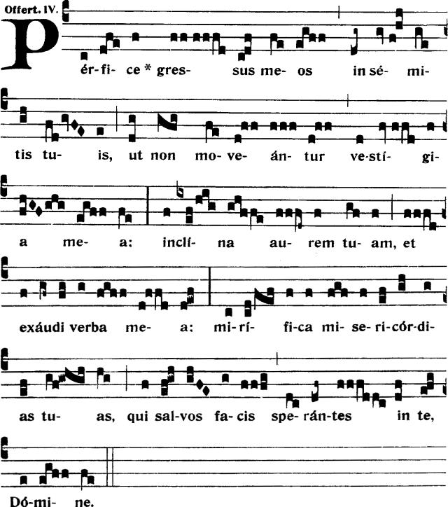 Offertoire - Perfice gressus meos - ton 4