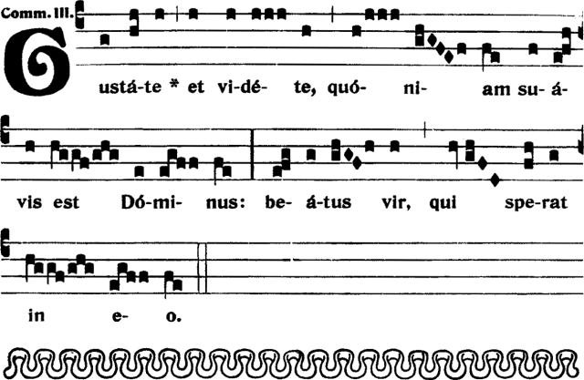 Communion - Gustate et videte - ton 3