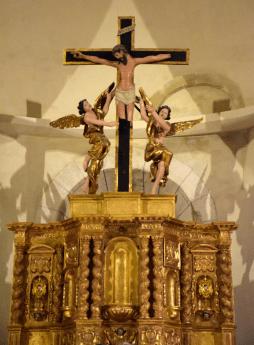 06 Tabernacle du maître-autel, œuvre du sculpteur Mézangeau de Bollène daté de 1655