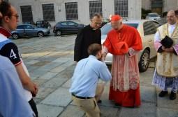 12 - Avec le cardinal Bagnasco, archevêque de Gênes, à Santo Stefano