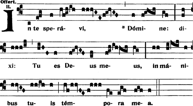 Offertoire - In te speravi Domine - ton 2