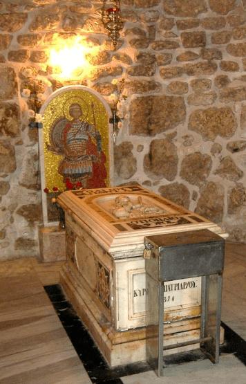 Sarcophage de saint Georges dans son église de Lydda