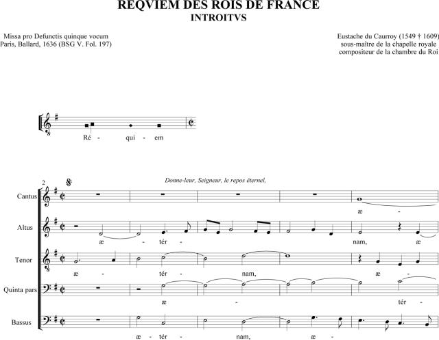 Messe de Requiem des rois de France d'Eustache du Caurroy