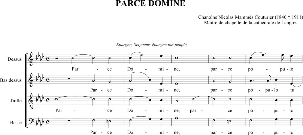 Nicolas-Mammès Couturier - Parce Domine