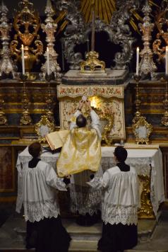 05 Messe de la fête de sainte Catherine de Sienne à l'église de la Miséricorde à Turin