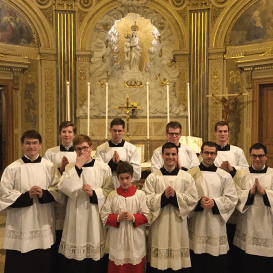 12 Messe de la saint Yves en la chapelles des Spiritains - les clercs de Saint-Eugène après la messe