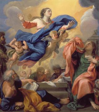 L'Assomption de la Vierge par Guillaume Courtois