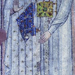 Saint Démétrios avec un diacre - mosaïque du VIIème siècle