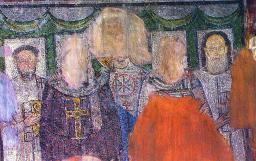 Saint Démétrios & quatre clerc - mosaïque des V-VIIèmes siècles.