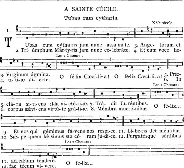 Tubas cum cytharis - rythme en l'honneur de sainte Cécile