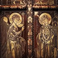 Chevetogne - Portes royales d'iconostase - détail