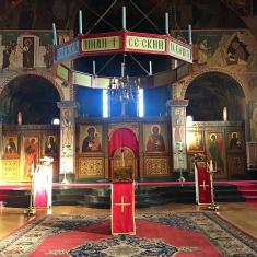 Chevetogne - l'église haute byzantine, dédiée à l'Exaltation de la sainte Croix