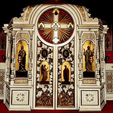 Chevetogne - l'iconostase russe de l'église basse