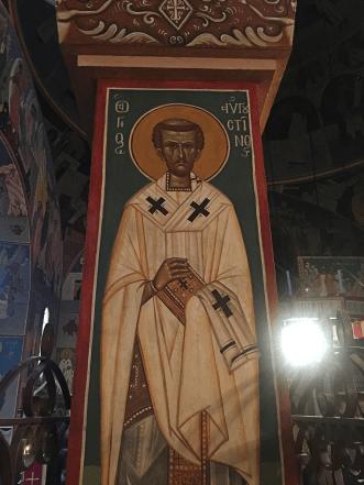 Chevetogne - rare fresque de saint Augustin d'Hippone