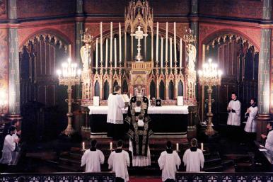10-Requiem pour Louis XVI - vue du chœur pendant le canon