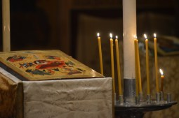 14-Vigile de Noël - à matines - l'icône de Noël durant le mégalinaire