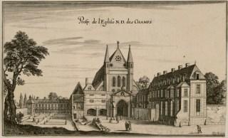 L'église de Notre-Dame des Champs et son couvent de carmélites au XVIIème siècle.