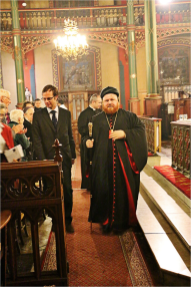 Mgr Nicodemus Daoud Sharaf, archevêque syriaque de Mossoul, avec Benjamin Blanchard, fondateur de SOS Chrétiens d'Orient