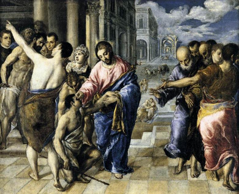 El Greco - Le Christ guerissant un aveugle - ca 1570