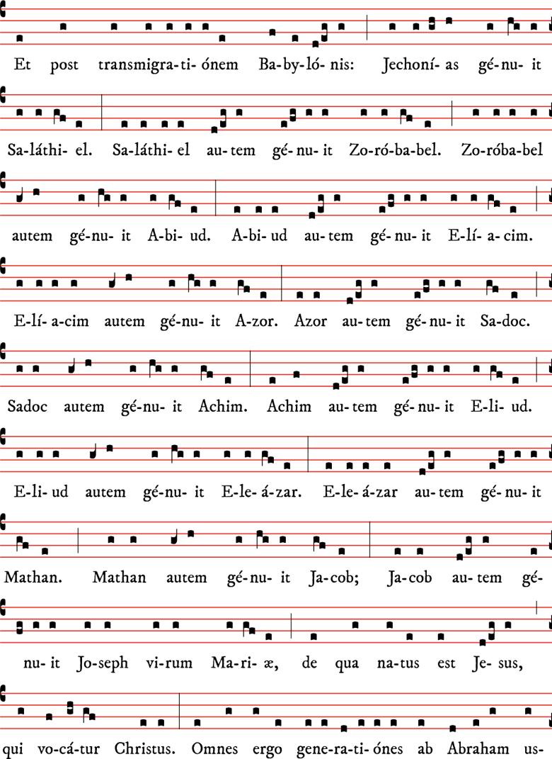 Généalogie de Notre Seigneur Jésus-Christ selon Matthieu, des matines de Noël - tradition parisienne 03