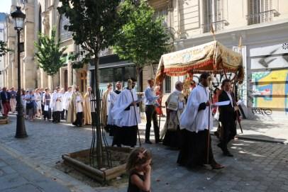 Procession du Saint-Sacrement - rue Saint-Cécile