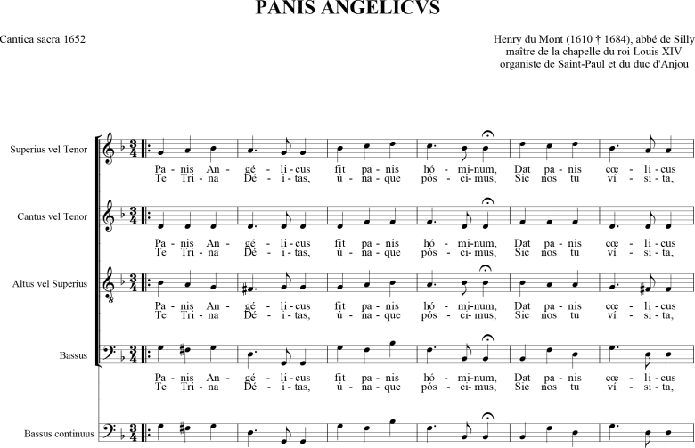Henry du Mont - Panis angelicus - Cantica Sacra - 1652.