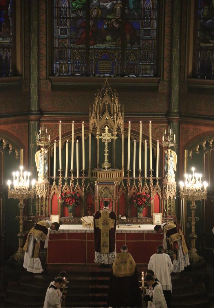 Fête du Précieux Sang -  Troisième Confiteor avant la communion.