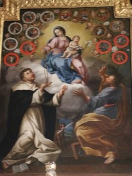 Aussois : le retable du Rosaire.