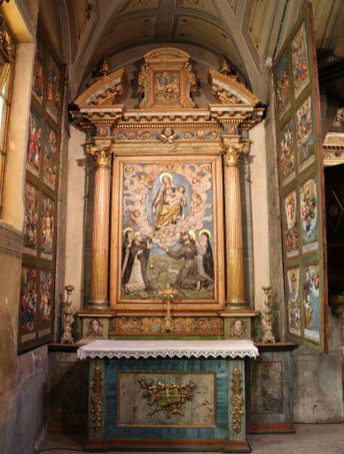 Lanslebourg, retable du rosaire par Jean Clappier de Bessans.