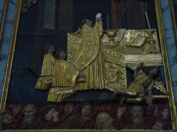 Saint-Bon, église Saint-Bon : retable des âmes du purgatoire, le tableau central.