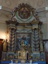Villargerel, église Saint-Martin : retable du rosaire par Jacques Clérand (1712).