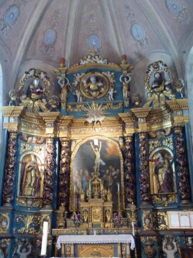 Villargerel, église Saint-Martin : retable majeur.