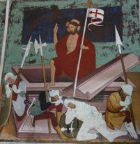 La résurrection du Christ. Saint Fabien, pape. Chapelle Saint Sébastien – Lanslevillard