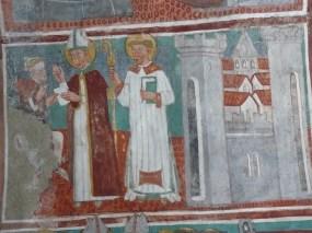 Vulmix - chapelle Saint-Grat les fresques relatant la vie de saint Grat