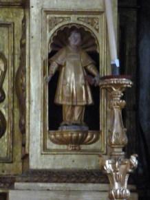 Termignon - église Notre-Dame de l'Assomption - l'un des saints du registre inférieur