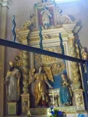 Peisey-Nancroix, église de la Trinité : retable de la Porte du ciel.
